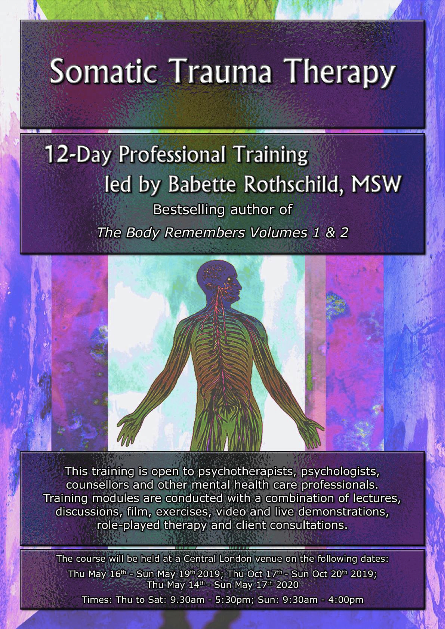 12-Day Somatic Trauma Therapy course May 2019