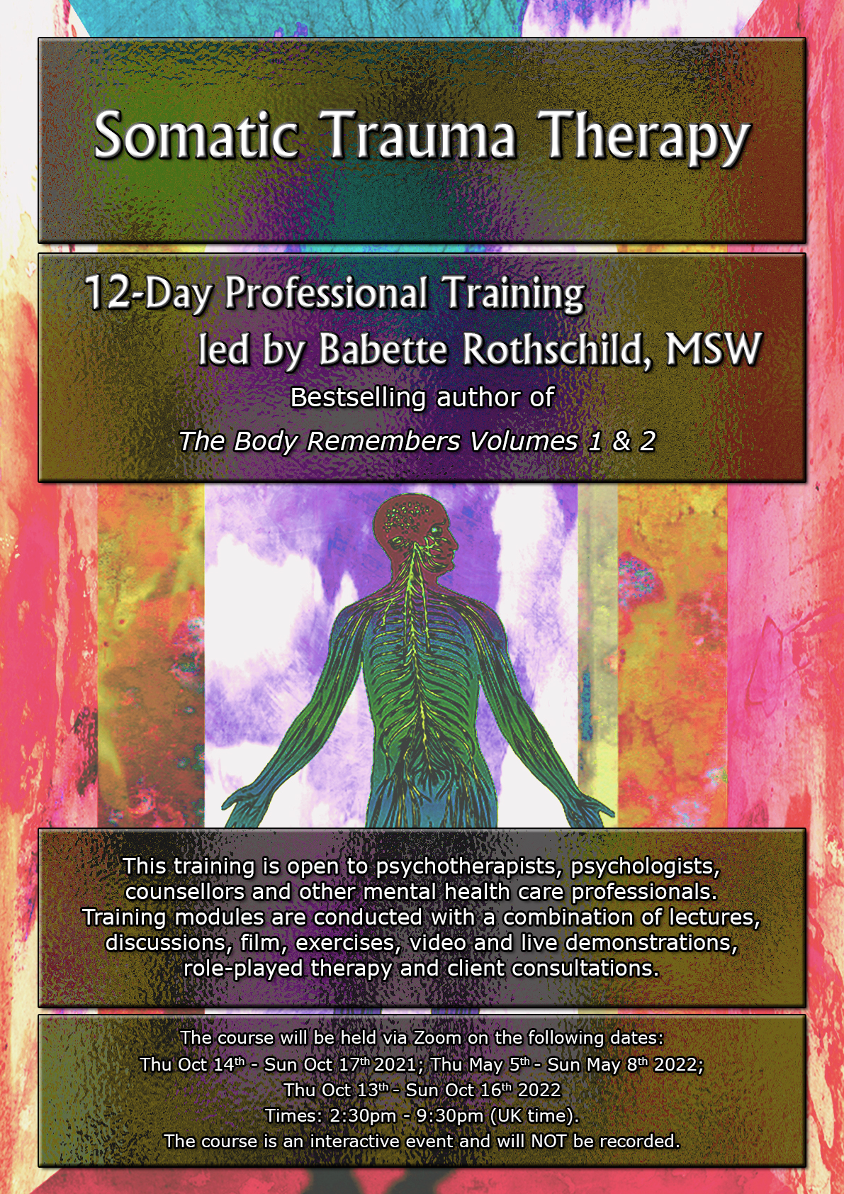12-Day Online Course in Somatic Trauma Therapy